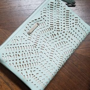 Stella and Dot mint double clutch